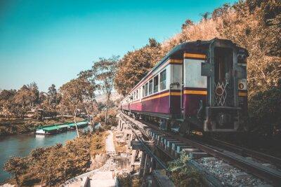 Obraz Smrt železnice v Kanchanaburi, Thajsko