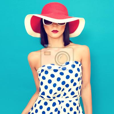 smyslná dívka v létě