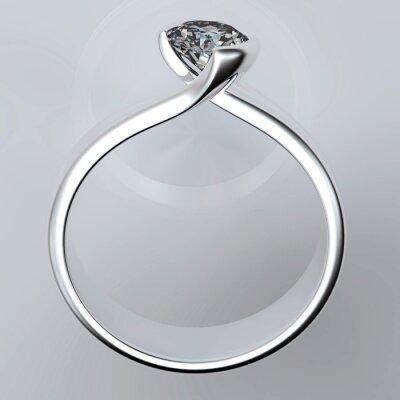 Obraz Snubní prsten s diamantem