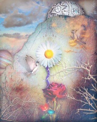 Obraz Sny údolí s barevnými květinami série