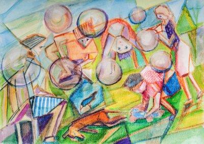 Obraz Soap bubbles of the childhood
