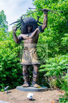 Socha domorodého Američana ve Washingtonu DC