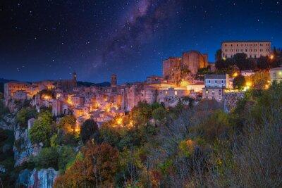 Sorano at night