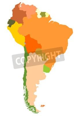 Obraz South Amerika- podrobné satelitní