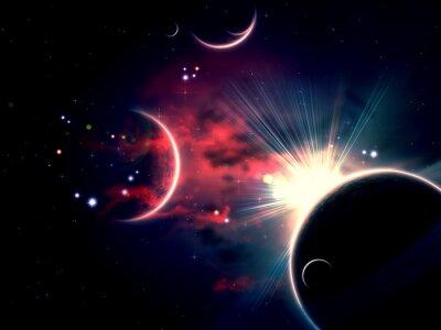 Obraz Space Mraky a planet
