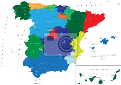 Španělsko mapa