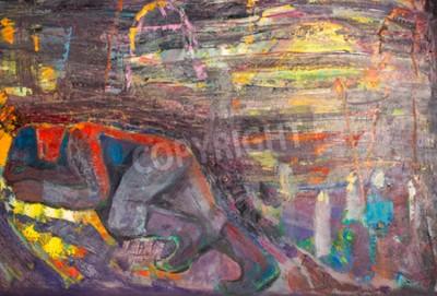 Obraz Spící muž