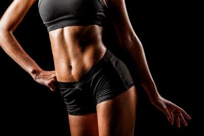 Obraz sportovní žena tělo