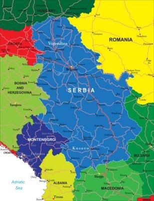 Srbsko a Černá Hora Mapa