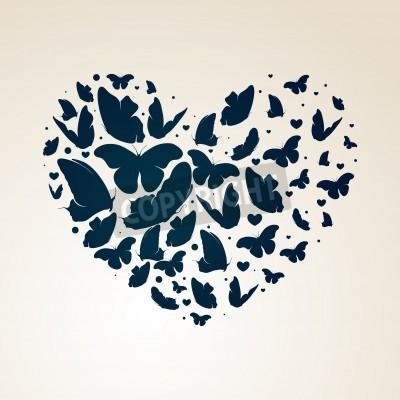 Obraz Srdce z motýlů