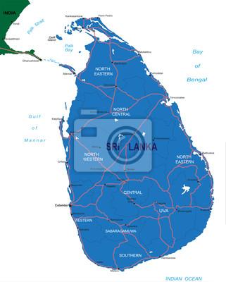 Srí Lanka mapa