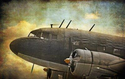 Obraz Stará vojenská letadla, grunge pozadí