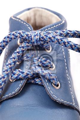 Staré modrá dětská obuv