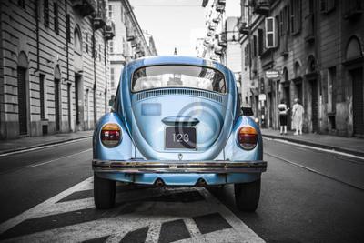Obraz Staré modré auto