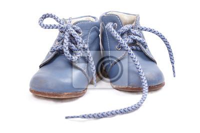 Staré modré dětské boty