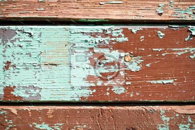Staré prkna s peeling multicolor barvy