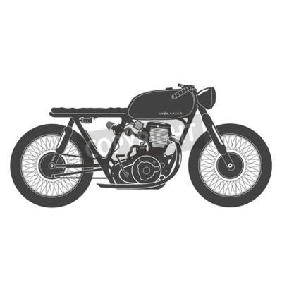 Obraz Staré ročník motocykl. caferacer téma.