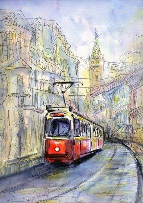 Obraz Staré tramvaje