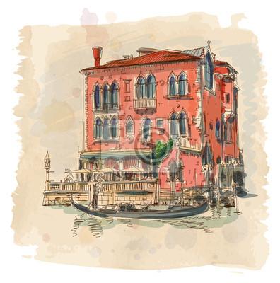 Starobylé budově & gondola