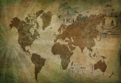 Obraz Starověk cestovní mapa