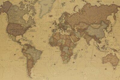 Obraz Starověká mapa světa