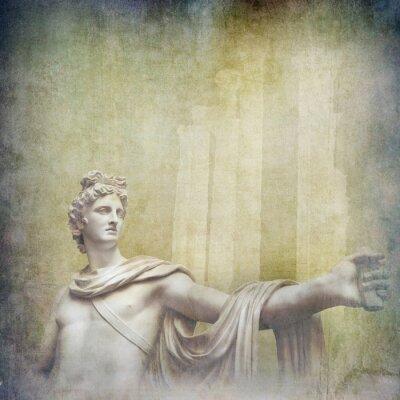 Obraz Starožitné Hellenistic sochy na pozadí grunge