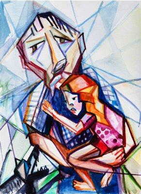 Obraz Starý muž a dívka