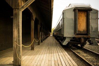 Obraz Starý vlak na stanici