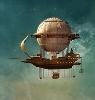 Obraz Steampunk fantazie vzducholoď