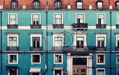 Stěna v Lisabonu, Portugalsko.
