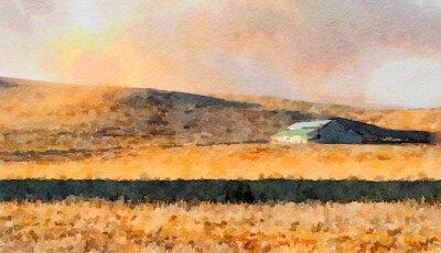 Obraz Stodola na venkově