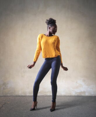 Obraz stojící žena