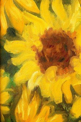 Obraz Sunny Slunečnice Olej na plátně.