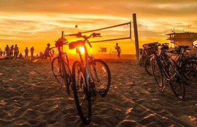 Obraz sunset beach volejbal na Venice Beach