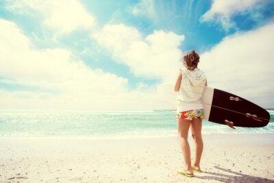 Obraz Surfer dívka na pláži