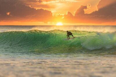 Obraz Surfer Surfing at Sunrise