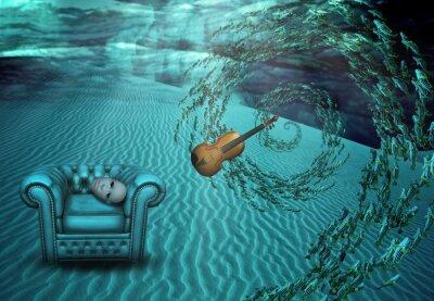 Obraz Surreal podvodní scény