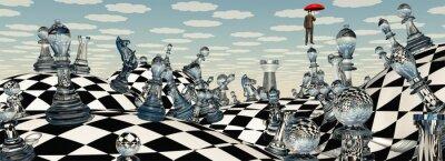 Obraz Surreal Šachy krajina