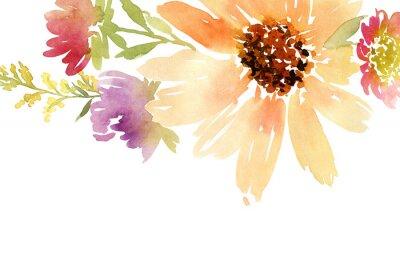 Obraz Svatba. Květinové pozadí.