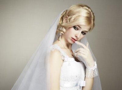 Obraz Svatební portrét krásné mladé nevěsty