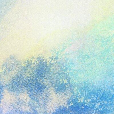 Obraz Světle modré abstraktní malované akvarelem postříkání pozadí