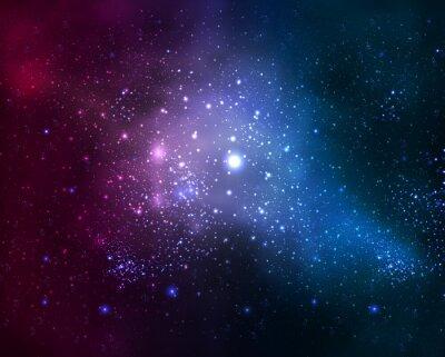 Obraz světlé rozmazaný galaxie