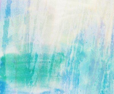 Obraz Světlo abstraktní modré, zelené malované akvarelem postříkání pozadí