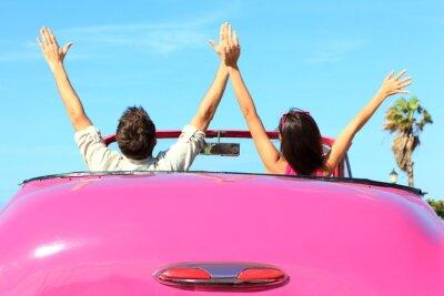Obraz Svoboda - šťastný bez pár v autě