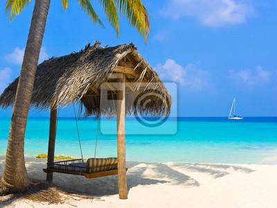 Swing na tropické pláži