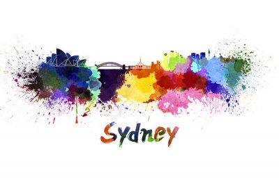 Obraz Sydney panorama v akvarelu