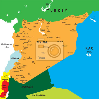 Sýrie mapa