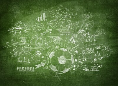 Obraz Tabule fotbal koncept