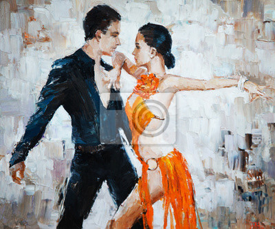 Obraz Tanečníci tanga digitální obraz, Tanečníci tanga
