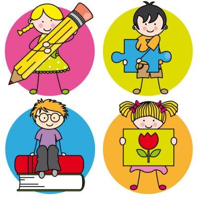 Obraz Tarjeta aprender a Pintar, escribir, Leer, jugar
